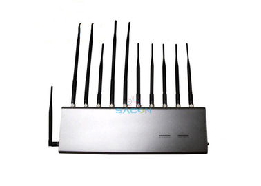 4G GPS RF Wifi Signal Jammer 11 Antennas For School / Conference Room